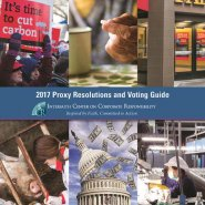 ICCR releases 2017 Proxy Resolutions and VotingGuide