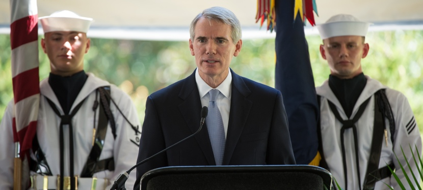 SGI lobbies Sen. Robert Portman to support a business supply transparency bill