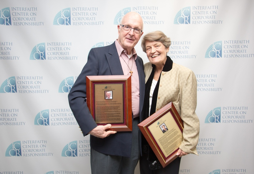 Fr. Mike Crosby receives ICCR Legacy Award