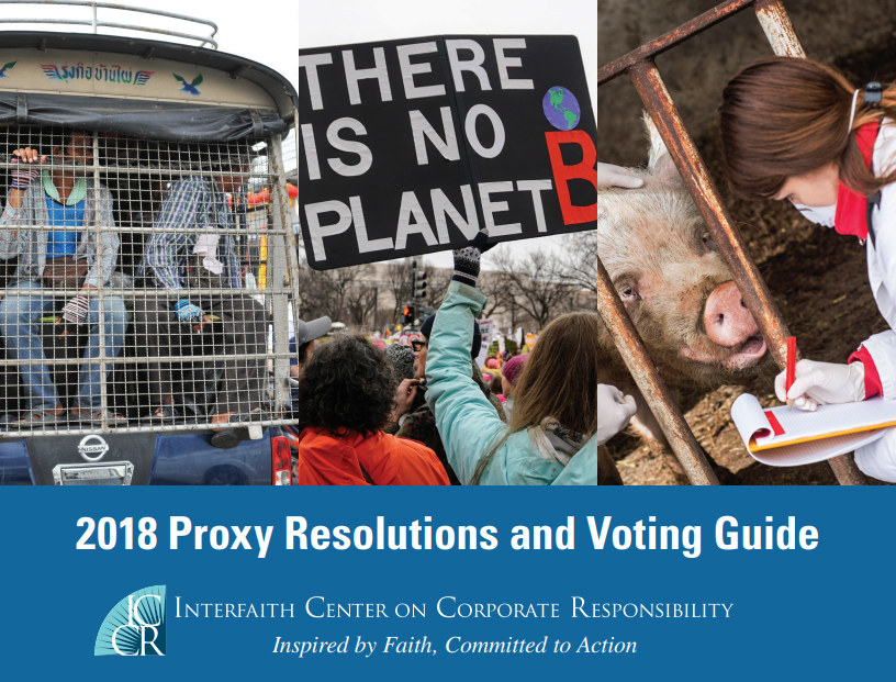 ICCR 2018 Proxy Resolutions and Voting Guide