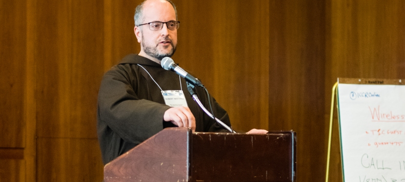 Capuchin friar offers remarks at ICCR conference opening